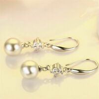 2019 New Crystal Women Pearl Drop Dangle Earrings Fashion Jewelry For Women Gift
