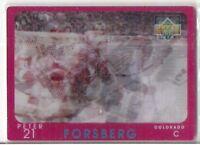 1997 UPPER DECK PETER FORSBERG DIAMOND VISION