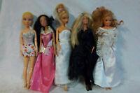 5 Dolls 2000 Spinmaster Articulated Doll 3 Mattel Barbie 1 Disney Toy