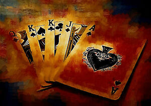 Poker Cards Giant Poster - A0 A1 A2 A3 A4 Sizes