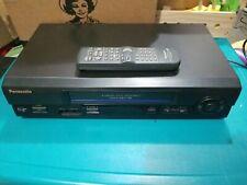 New listing Panasonic 4 head hi-fi stereo omnivision vhs vcr plus Pv-V4611 w/ remote works!