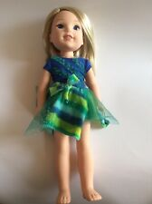 "American Girl Doll Blonde Blue Eyes 1186 MJ, 1, NL FGD40 Approximately 14"" Tall"