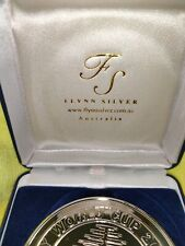 LARGE RUGBY UNION SILVER PLATE MEDALLION FROM 2003 AUSTRALIAN HOST