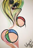 Margarita Bonke Malerei PAINTING erotica EROTIK Zeichnung akt nu art Nude Unikat