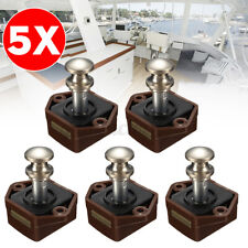 5x Mini Botón Pulsador Coger Cerradura Del Gabinete Cajón Puerta Barco Caravana Camper Autocaravana