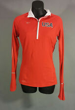 Nike TEAM USA Element Red Dri Fit Quarter Zip Athletic Pullover Women's XS NWOT