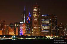 Cubs Chicago Skyline Fly The W 2106 World Series Photos Photo 8x10 #1115