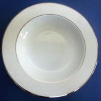 NEW Lenox Opal Innocence Dots Scroll Bone China Pasta/Salad Bowl Rim Soup