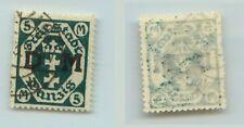 Danzig 1921 SC O24 Mi 24Y used horiz wmk Germany non 1911-1920 . rta2358