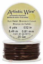 Gun Metal Artistic Craft Wire 18 Feet  Jewelry Beading Crafts 20 Gauge
