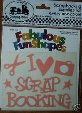 I LOVE SCRAPBOOK CROP SCISSOR CAMERA SCRAPBOOK STICKER! MAKE IT OWN COLOR EMBOSS