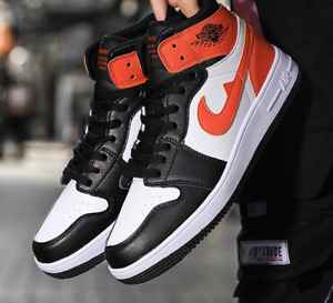 Womens Mens Air Jordan1 Mid Basketball Sneaker Shoes Ankle Sports Trainers Retro