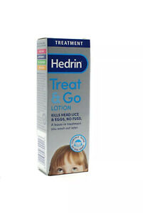 Hedrin Head Lice Treat & Go Lotion 50ml - Leave In Treatment - Free Postage.
