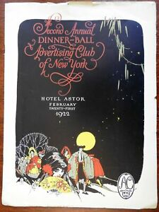 Advertising Club of New York Spanish Evening 1922 souvenir program musical score