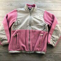 The North Face Girls Denali Fleece Jacket Pink / Gray Size size Large
