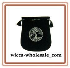 Black Velvet Bag Pouch 5 X 5 Tree Of Life Wicca Talisman Drawstring Tarot