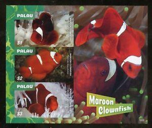 PALAU 2020 MAROON CLOWNFISH IMPERF SHEET MINT NEVER HINGED