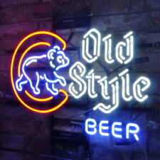 Neon Sign Old Style Beer Bistro Poster Game Room Vintage Cafe Bedroom