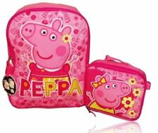 """Peppa Pig 16"""" Backpack With Detachable Lunch Box"""