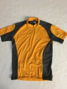 Louis Garneau Cycling Jersey Shirt Size M Yellow Gray