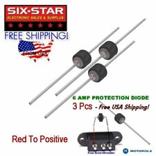 3 Pcs PROTECTION DIODES 6 AMP CB HAM RADIO PROTECT OVER VOLTAGE & REVERSE WIRING