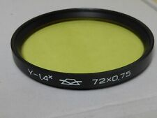 Genuine russian 0.75 -1.4x  72mm Y (Y1.4) Yellow Filter, fits camera lens 72 72m
