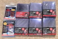 6x Lot UltraPro Toploader Regular/55/100/120/130/180pt Card Holder & 200 Sleeves
