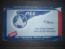 DÉPLIANT PUBLICITAIRE AVIATION XXème PAN AMERICAN WORLD AIRWAYS TRAVEL DOCUMENTS