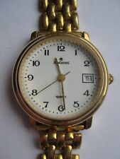 Womens Junghans Gold Plated Date Watch With Bracelet Strap