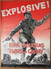 Paths Of Glory, Stanley Kubrick, Kirk Douglas, 1957, Pressbook 454