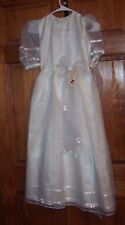 NEW GIRLS SIZE 7 WHITE 1ST COMMUNION PARTY DRESS FLOWER GIRL DRESS NWT
