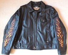 Harley Davidson Cuir Équitation Veste, Taille 2XL