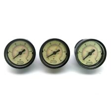 "Lot of 3 NOSHOK 15-110-100-PSI-1/8-BSC Pressure Gauge 1½"" Face 1/8""NPT 0-100PSI"