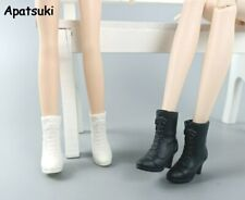 2pairs/lot Fashion Doll Shoes for Barbie Doll Boots High-heel Booties for Blythe