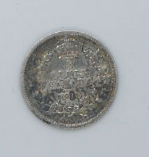 1910 Canadian silver coin 5 cents VF-EF condition