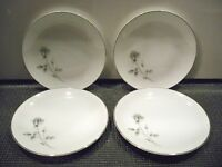 4 SOCIETY ''SHADOW ROSE'' JAPAN  BREAD AND BUTTER PLATES  6 3/4''