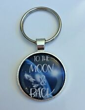 Key chain I Love You To The Moon and Back Space Earth Family Relationship