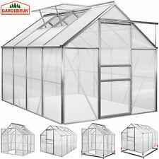 Gewächshaus 3,7m²-4,75m² Treibhaus Tomatenhaus Gardebruk Dachfenster Schiebetür