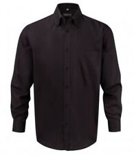 """956M Russell Collection Long Sleeve Non-Iron Shirt Black Size 15.5"""" Box44 27 O"""