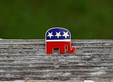 Republican National Committee Elephant Red White Blue Stars Enamel Pin Pinback