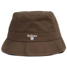 Barbour hombre Cascada De Algodón sombrero del cubo Oliva Tamaño Pequeño Mediano Grande XL