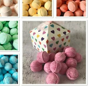 MINI BATH MARBLE GIFT BOX 15 FIZZES/BOMBS SCENTED FAVOR BABY SHOWER BIRTHDAY