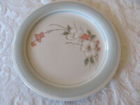 Impressions by Daniele Riverside-Floral w/ Blue Rim -Dinner Plate(s)-12 Avail