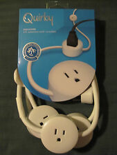 NEW Quirky Pod Power Flexible Power Strip - 9 Feet + 3 Outlets - White - Ne