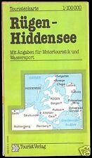 Touristenkarte, Rügen - Hiddensee, 1986