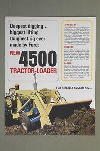 Original 1960's FORD 4500 Tractor / Loader / Backhoe Sales Brochure