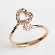 Rose Gold Plated Silver & cz Adjustable Solid Metal Toe Ring 14 k