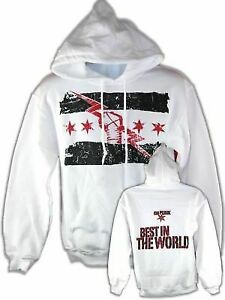 CM Punk Best In The World White Pullover Hoody Sweatshirt New