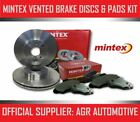 MINTEX FRONT DISCS AND PADS 240mm FOR MG TF 1.8 120 BHP 2002-05