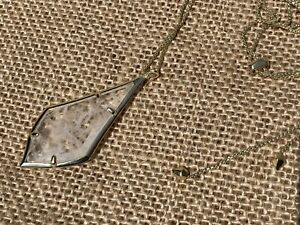 Kendra Scott Damon Rock Crystal Pendant Yellow Gold Plated Necklace
